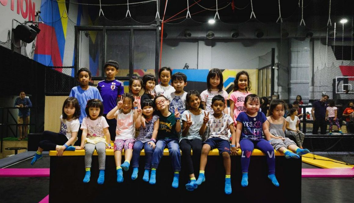 A birthday party at Bounce.