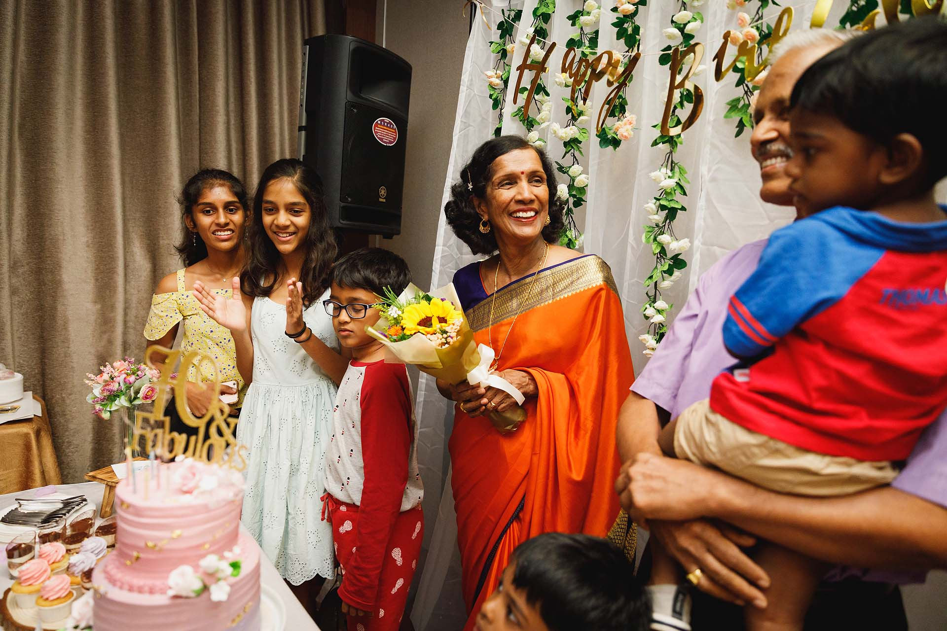 A surprise 70th birthday party at Serangoon Gardens Country Club.