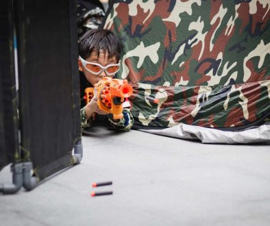A Nerf themed party at Ripple Bay.