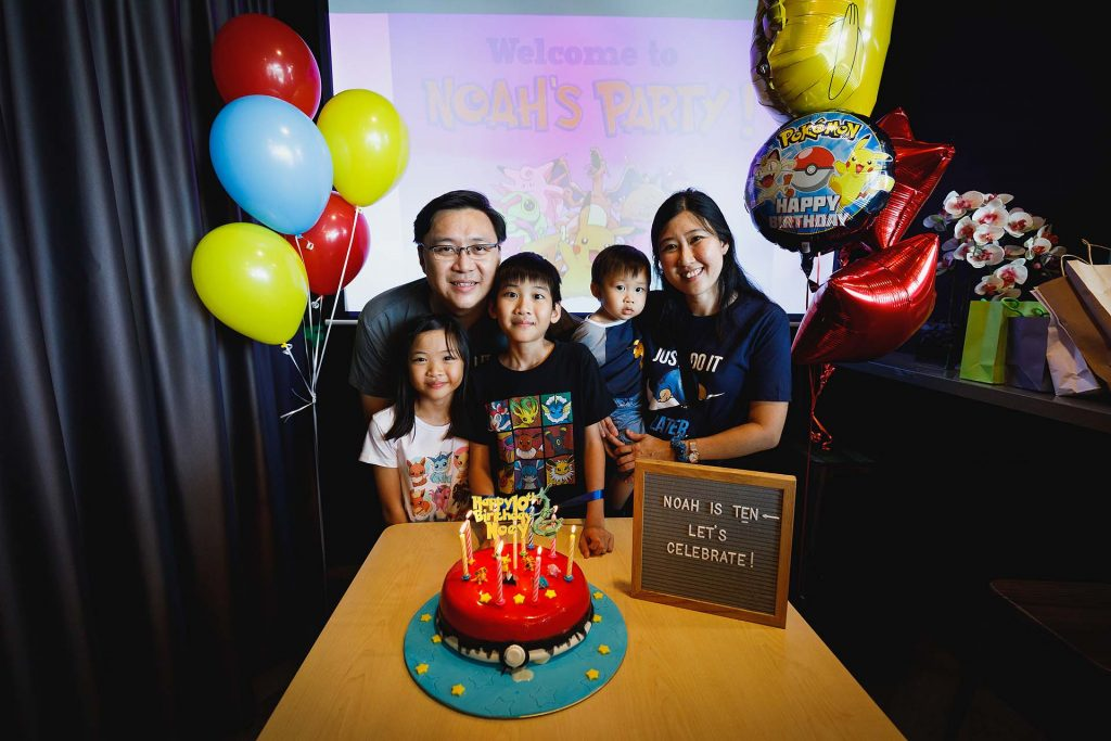 A birthday party at Timezone.