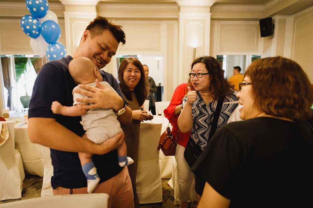 A baby shower at Goodwood Park Hotel.