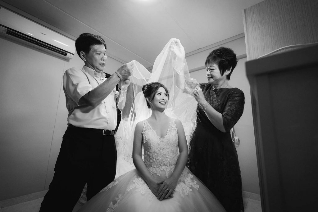 A Chinese wedding in Singapore.