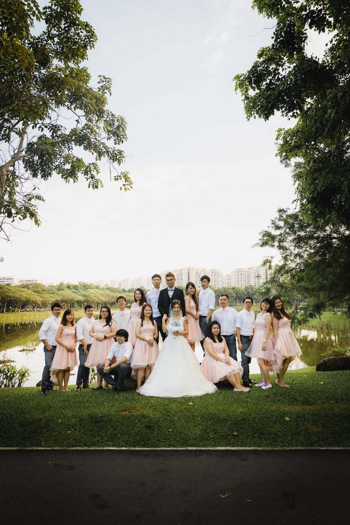 Wedding portraits at Punggol Park.