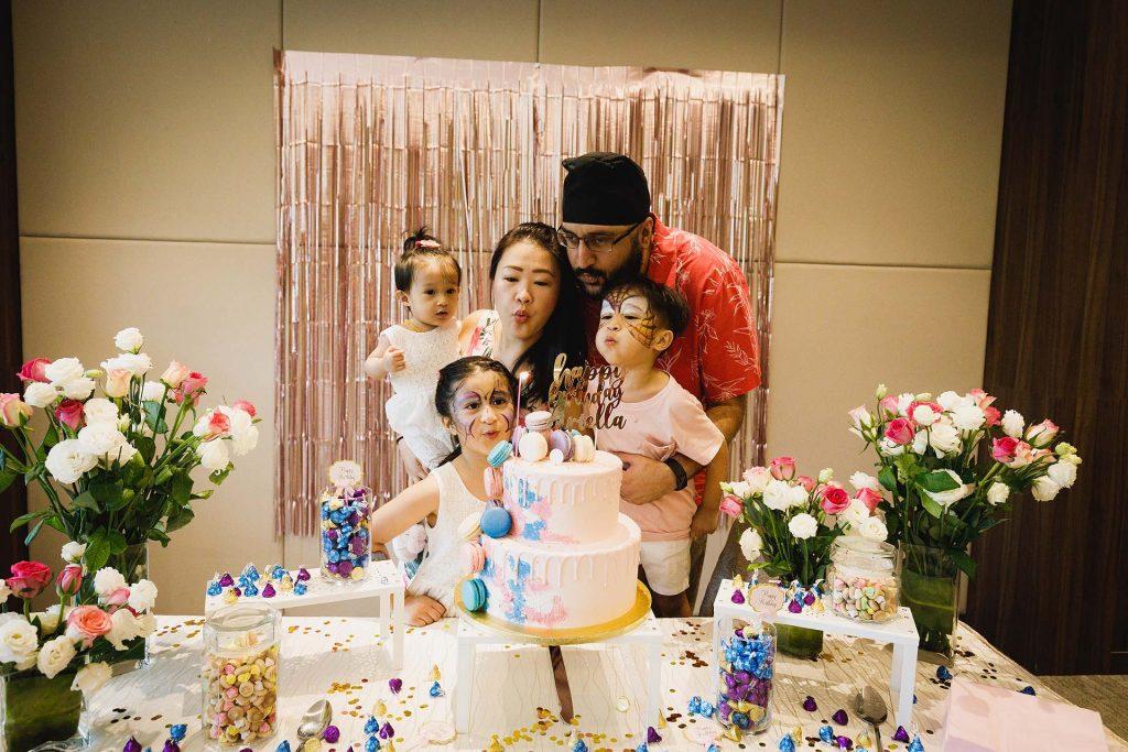 A birthday party at the Temasek Club.