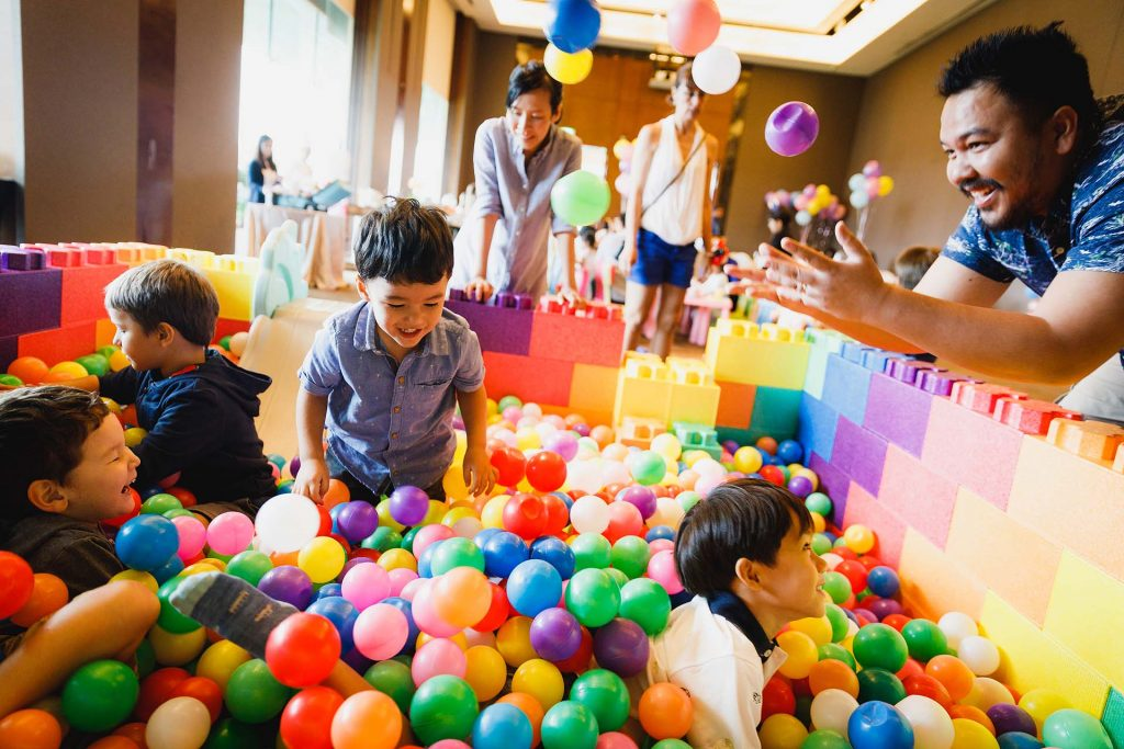 A birthday party at The Singapore Island Country Club.