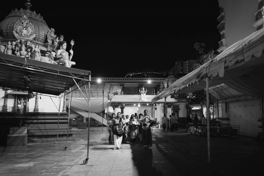 A naming ceremony at Sri Mariamman Temple.